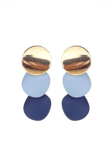 Cinerous Geometric Disc Earrings by Moxie PH
