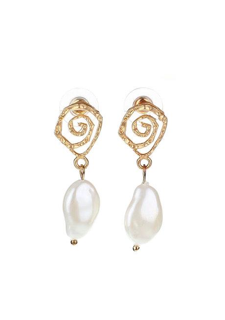 Myrtle Bead Geometric Earrings by Moxie PH