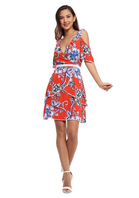 Paloma V-Neck Dress by Chelsea