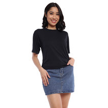 Crew Neck Hanging Blouse by The Fifth Clothing