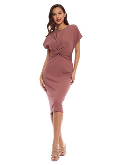 Amber Knot Dress by Toppicks Clothing