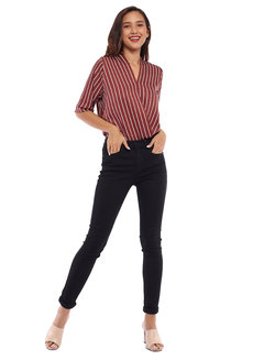 Toni Striped Top by Toppicks Clothing