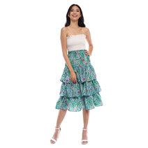 Floral Ruffled Skirt by Pink Lemon Wear