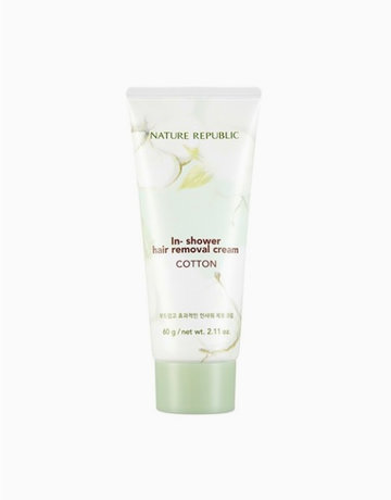 In Shower Hair Removal Cream Cotton 60g By Nature Republic