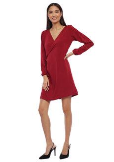 Aly Wrap Dress by Babe