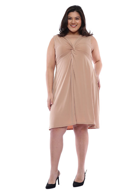 Plus Size Aliyah Twist Detail Dress by Frassino Collezione