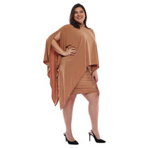 Plus Size Anisha High Neck Overlay Dress by Frassino Collezione