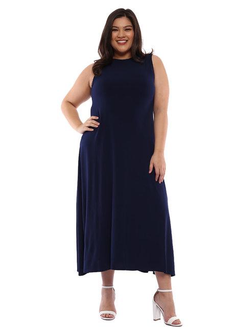 Plus Size Bernice Sleeveless Maxi Dress by Frassino Collezione