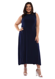 Plus Size Bernice Sleeveless Maxi Dress by Frassino Collezione
