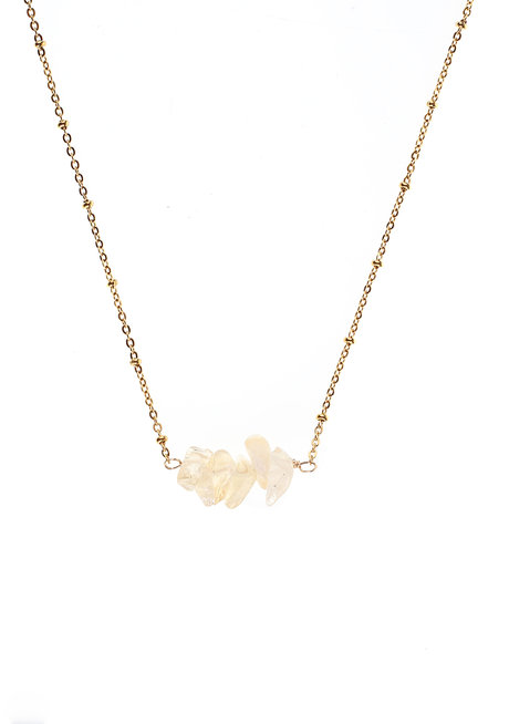 Citrine Bar Necklace by Made By KCA