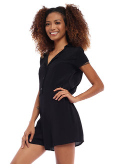 Jennica Button Down Romper by Babe
