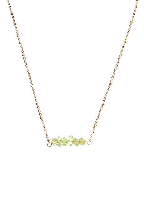 Peridot Bar Necklace by Made By KCA