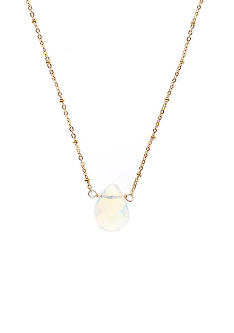 Opalite Teardrop Necklace by Made By KCA