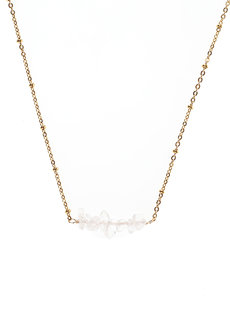 Clear Quartz Bar Necklace by Made By KCA
