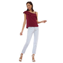 Skye Asymmetrical Ruffled Top by Babe