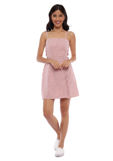 Julianna Dress with Ruffle Detail by Babe