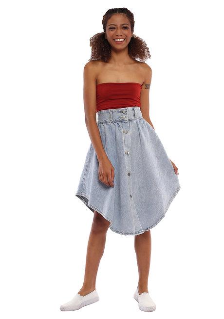 Andrea Denim Skirt by Pink Lemon Wear
