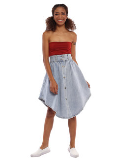 Andrea Denim Skirt by Pink Lemon Wear