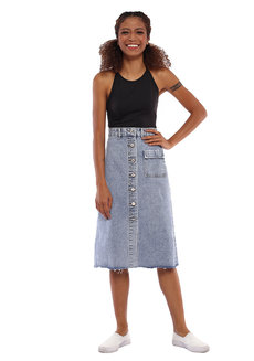 Aly Denim Skirt by Pink Lemon Wear