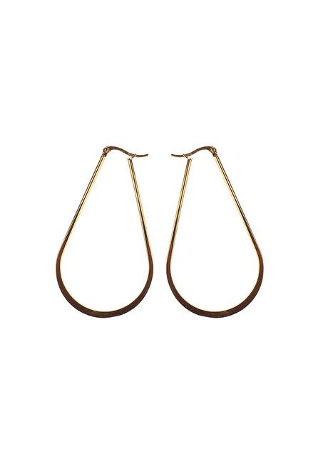 Rectangle Hoop Earrings by Bedazzled