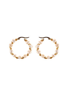 Pearl Hoops by Bedazzled