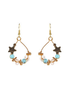 Star & Shell Earrings by Bedazzled
