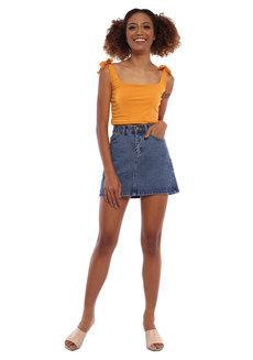 Velma Self Tie Crop Top by Babe