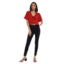 Cheriza Low Neck Sleeved Top by Babe