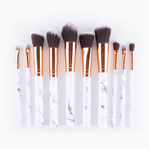 10-Piece Marble Brush Set by Mermaid Dreams