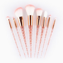 8-Piece Crystal Brush Set by Mermaid Dreams