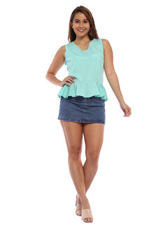 Lora Sleeveless Flounce Top by Chelsea