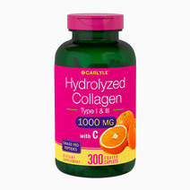 Hydrolyzed Collagen 1000mg With Vitamin C (300 Caplets) by Carlyle
