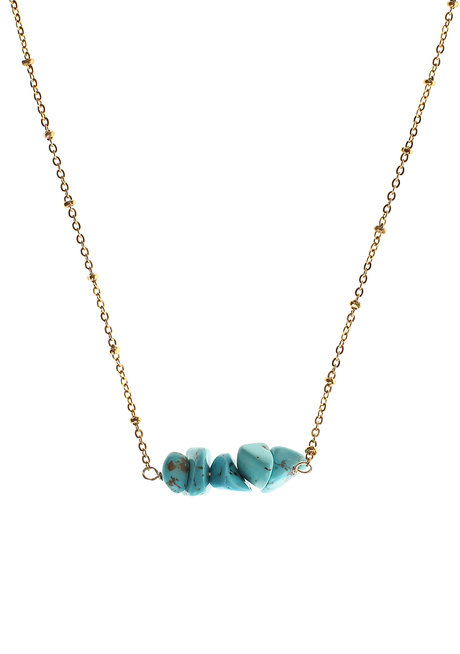 Turquoise Bar Necklace by Made By KCA