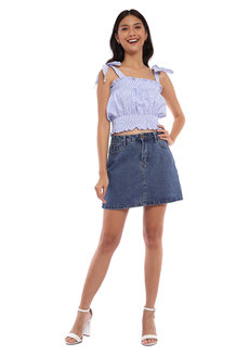 Ezra Self-Tie Smocked Top by Morning Clothing