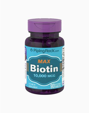 Max Biotin 10,000mcg (90tabs) by Piping Rock