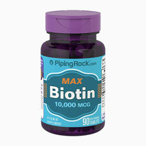 Max Biotin 10,000mcg (90tabs) by Piping Rock