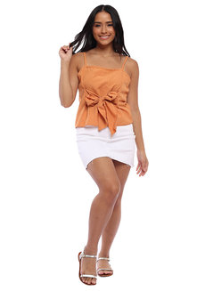 Marcy Tank Top with Front Tie by Babe