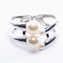 4 Pearl Bangle  by Luxe Studio