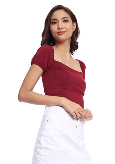 Ara Puffed Top by Babe