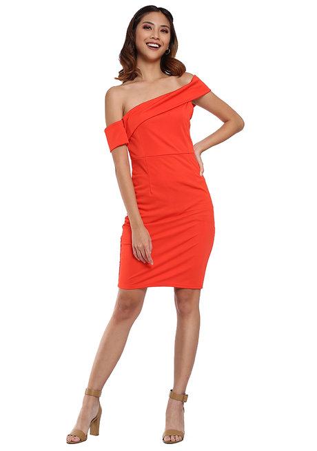 Bodycon Off Shoulder Dress by Pink Lemon Wear
