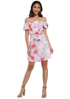 Floral Off Shoulder Dress by Pink Lemon Wear