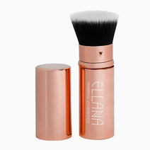 Rose Gold Chloe Retractable Flat Kabuki Brush by Ellana Mineral Cosmetics