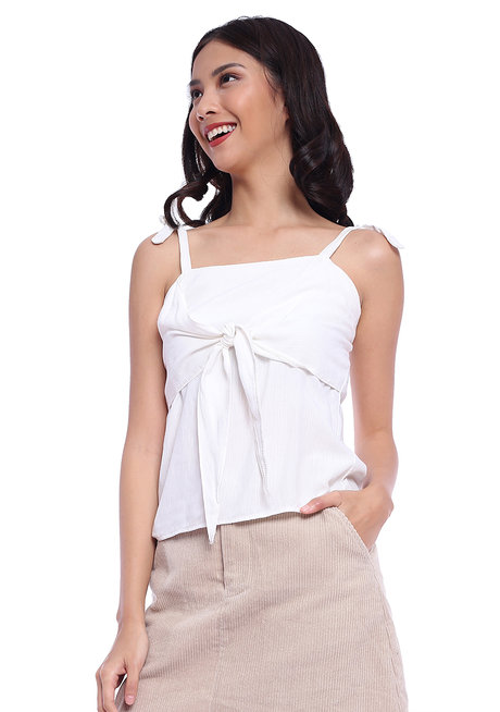 Self-Tie Front and Strap Top by The Fifth Clothing