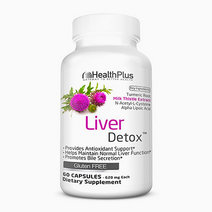 Liver Detox with Turmeric Root, Milk Thistle Extract, N-Acetyl L-Cystein & Alpha Lipoic (30 Days) by Health Plus