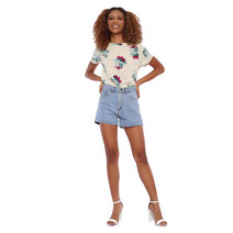 Floral Short Sleeve Top by Glamour Studio