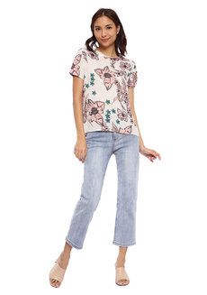 Romantic Floral Printed Top by Glamour Studio