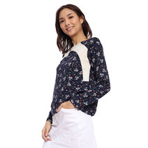 Ditsy Floral Blouse with Cutting Detail by Glamour Studio