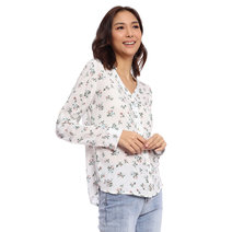 Micro Floral Long Sleeve Button Down by Glamour Studio