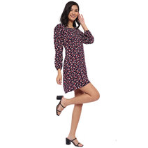 Mikki Long-Sleeved Square Neck Mini Dress by Morning Clothing