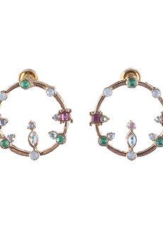 Cyril (Rhinestone Circular Earrings) by Aine